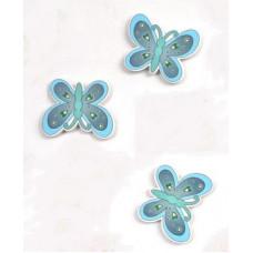 Объемное украшение Бабочка серо-голубая