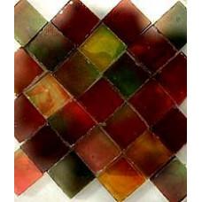 Мозаика из стекла коричнево-зеленая темная (MHB-7612-06 R)