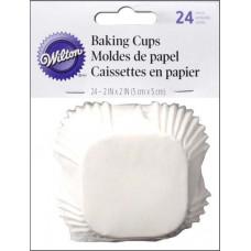 Бумажные формы для кексов квадратные Standard White (WIL415-0666)