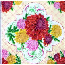 Салфетка Разноцветные хризантемы (1378)