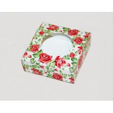 Коробочка квадратная Садовые розы