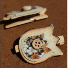 Декор на прищепке Тюльпан