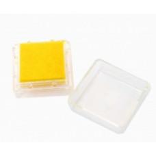 Штемпельная подушка c чернилом, желтая (4888450)