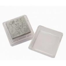 Штемпельная подушка c чернилом, серебрянная (4888458)