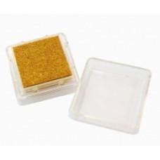 Штемпельная подушка c чернилом, золотая (4888459)