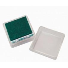 Штемпельная подушка c чернилом, темно-зеленая (4888457)