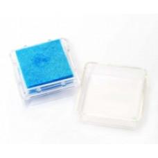 Штемпельная подушка c чернилом, светло-голубая (4888454)