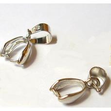 Держатель для кулона серебристый, 5 шт. (977578)