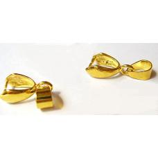 Держатель для кулона золотистый, 5 шт. (977561)