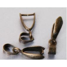 Держатель для кулона античная бронза, 5 шт. (977554)