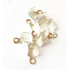 Зажим для лент и шнуров, серебристый 10 шт. (987751)
