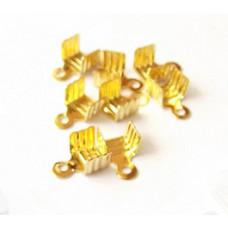 Зажим для лент и шнуров, золотистый 10 шт. (987744)