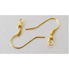 Швенза (крючек) для серег золотистая, 20 шт. (977202)