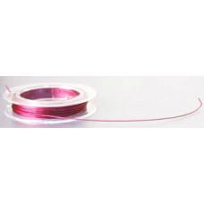 Бижутерная проволока, розовая, 0,27x0,35 мм (977257)
