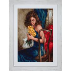 Набор для вышивания крестом Luca-S Желтые розы (B532)