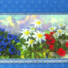 Салфетка Альпийские цветы (1392)