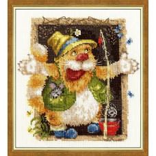 Набор для вышивания крестиком Золотое руно Байки рыбака (ВК-020)
