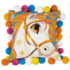 Набор для вышивания крестом Риолис Подушка Златогривая лошадка (1380)