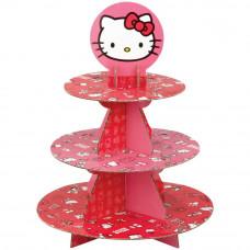 Подставка трехярусная под сладости сборная, Hello Kitty (W7575)