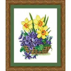 Набор для вышивания крестиком Сделано с любовью Весна пришла (ЦВ-059)