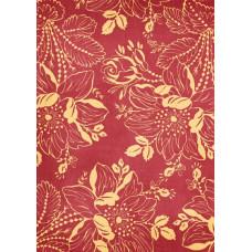 Бумага Багряные цветы (Ш142) (294)