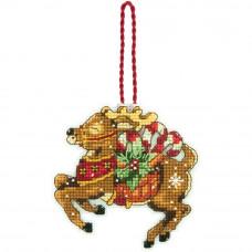 Игрушка на елку Олень с подарками (70-08916)
