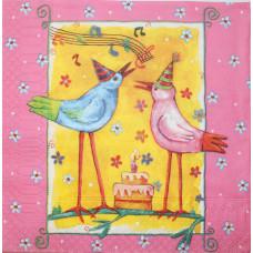 Салфетка Веселые птички (1398)