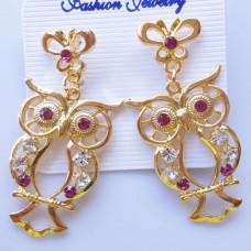 Серьги-гвоздики Кристальные совы