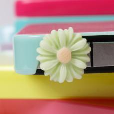 Заглушка разъема телефона Салатовый цветочек