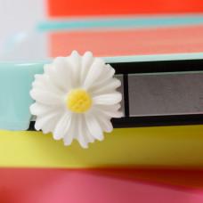 Заглушка разъема телефона Белый цветочек