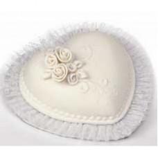 Кружево для украшения тортов, белое (W8021991)