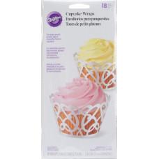 Набор раперов (ажурных лент) для кексов, Pearl White Swirls (CCWRAP 0182)