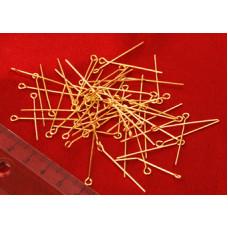Бижутерные булавки, золотистые (987614)