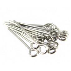 Бижутерные булавки, серебристые (987621)