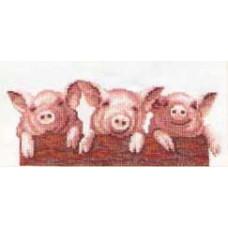 Набор для вышивания крестиком Чарівна мить Свинюшки (342)