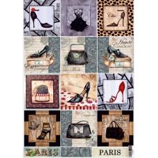Декупажная карта Мода Парижа (ЕВ-Д054)