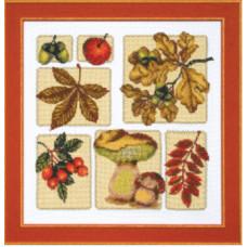 Набор для вышивания крестиком Чарівна мить Осенний микс (М-118)