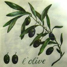 Салфетка Ветвь темных оливок (1470)