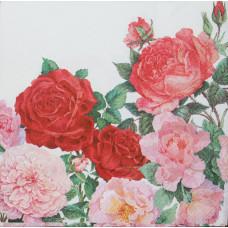 Салфетка Розы на даче (1492)
