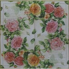 Салфетка Венок роз (1494)