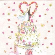 Салфетка Свадебный торт (1509)