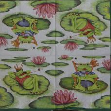 Салфетка Лягушки на отдыхе (1512)