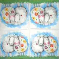 Салфетка Влюбленные овечки (1513)