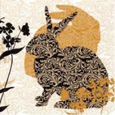 Салфетка Весенние кролики (1515)