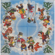Салфетка Зимние забавы (1521)