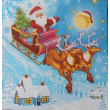 Салфетка Дед Мороз прилетел (1525)