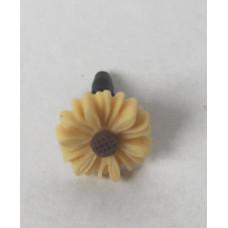 Заглушка разъема телефона Светло-бежевый цветочек