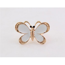Кольцо Белая бабочка