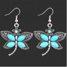 Серьги Лазурные бабочки