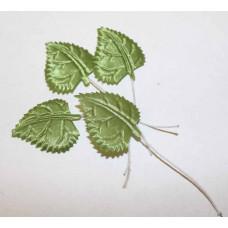 Листья тканевые ярко-зеленые
